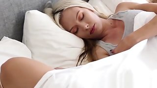 Yummy stepsister forth small tits bounces on rock solid cock