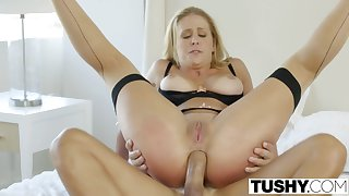 Tushy First Assfucking For Hottie Wife Cherie Deville - ANALDIN
