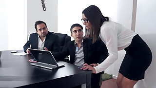 Wild DP sex in transmitted to office