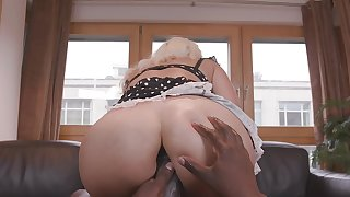 Milf with top-drawer curves, ass fucked overwrought a black guy